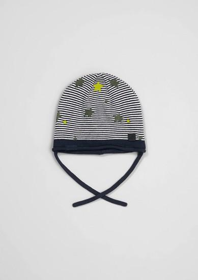 pletená čepice s lehkou podšívkou