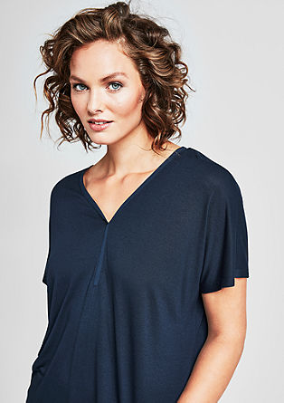 Batwing top with a Y-neckline from s.Oliver