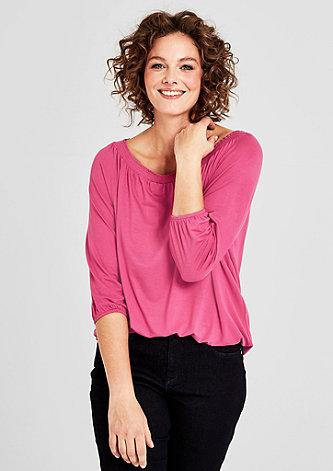 Feminines Shirt aus Viskosestretch