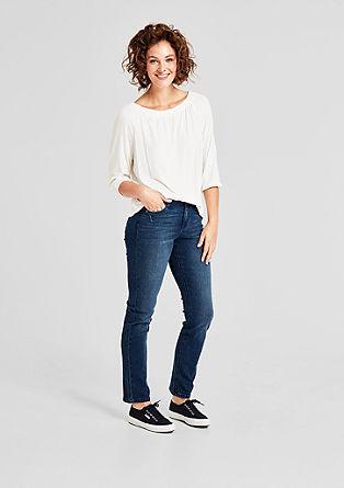Curvy Slim: modré džíny