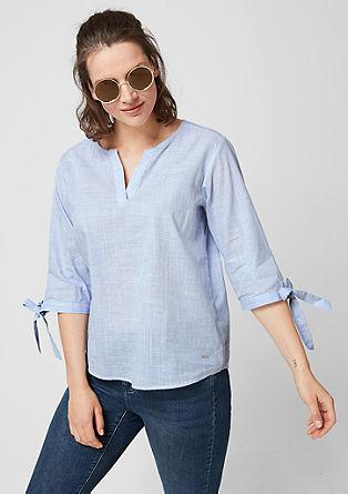 Tunika bluza s tkanimi črtami