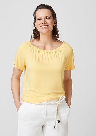 Off-shoulder shirt van jersey