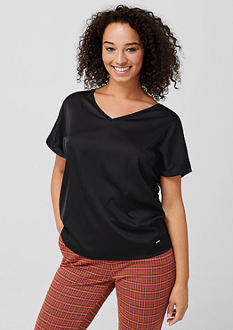 Shirt mit satinierter Front