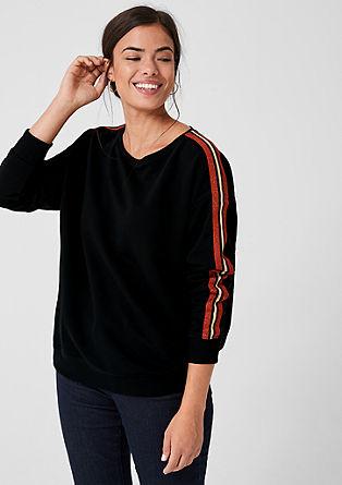 Sweatshirt met een gestreept bandje