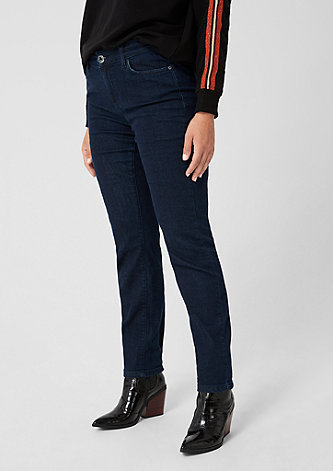 Curvy Slim Leg: Dunkle Denim