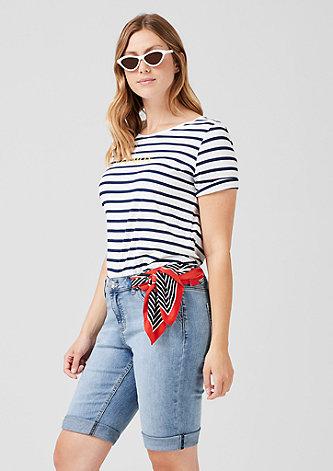 Curvy: Jeans-Bermuda