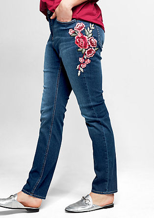 Curvy: Jeans with embroidery from s.Oliver