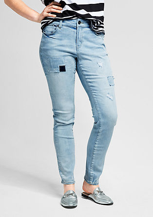 Regular: Helle Flickenjeans