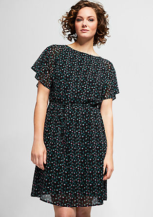 Chiffon dress with a floral print from s.Oliver