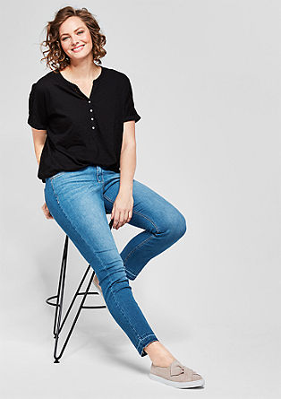 Curvy Slim: 7/8 stretch jeans from s.Oliver