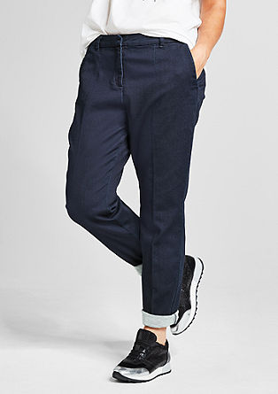 Chinos in sweatshirt denim from s.Oliver