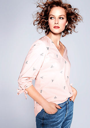 Blouse top with an embroidered motif pattern from s.Oliver
