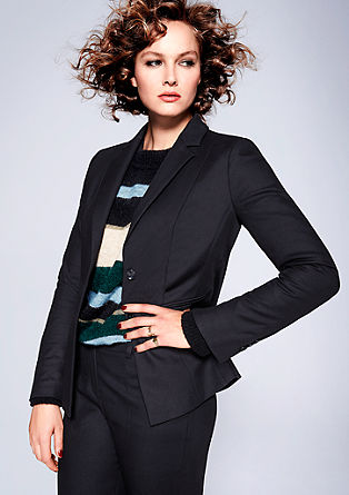 Blazer with a woven texture from s.Oliver