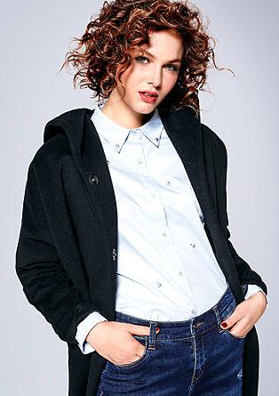 Katoenen blouse met sierkralen