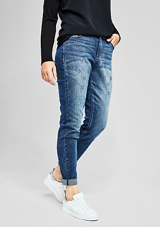 Fancy Boyfriend: Schmuckstein-Jeans