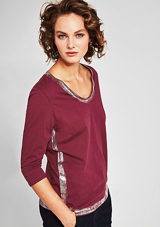Top with a metallic effect from s.Oliver