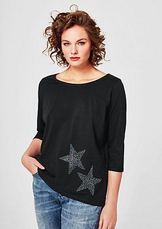 T-Shirt mit 3/4-Arm