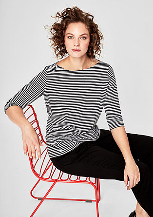 Soft T-shirt with all-over stripes from s.Oliver