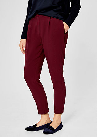 Elegant stretch trousers from s.Oliver