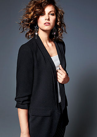Long blazer with gathered sleeves from s.Oliver