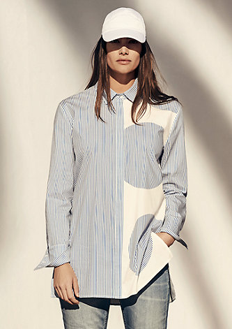 Hemdbluse mit Streifen