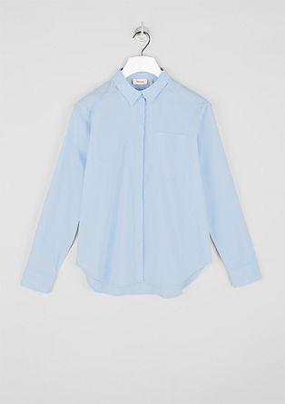 Eenvoudige blouse van chambray