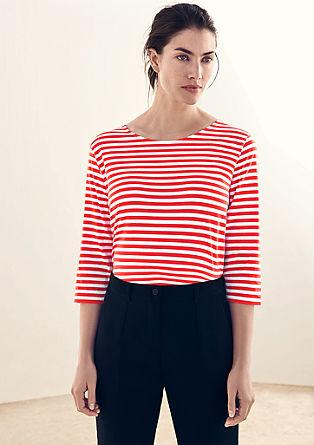 Pruhované tričko s3/4 rukávy