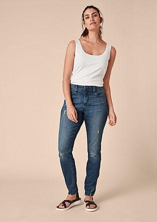 Curvy Slim: Jeans mit Wascheffekt