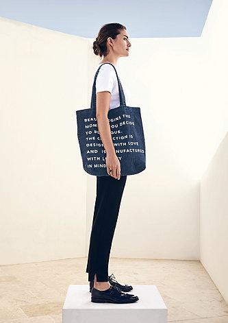 Denim-Shopper mit Statement