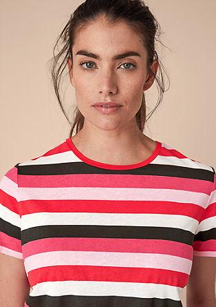 T-Shirt mit breiten Blockstreifen