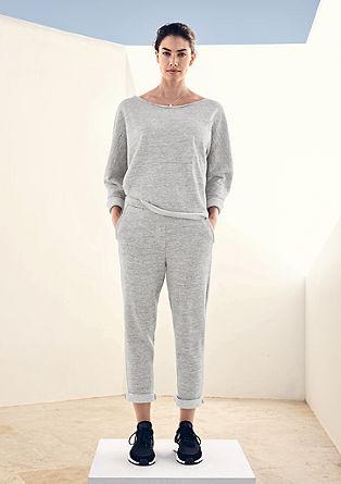Sweatshirt met lurexgaren