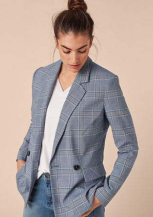 Blazer in a check design from s.Oliver