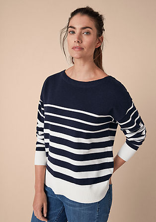 Knit jumper with stripes from s.Oliver