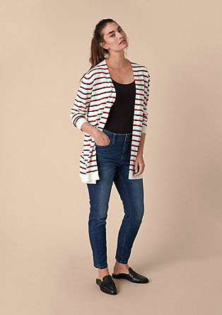 Fine cardigan with stripes from s.Oliver