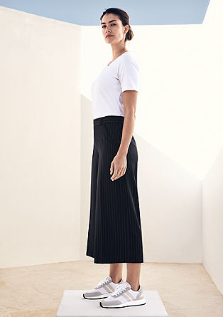 Kalhoty culotte s vlasovým proužkem