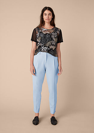 Stretchy cigarette trousers from s.Oliver