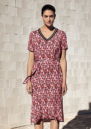 Crêpe dress with a print from s.Oliver