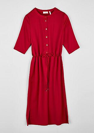 Blusenkleid aus Crêpe-Satin