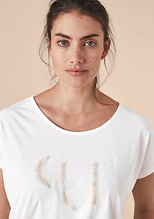 Shirt mit Statement-Stickerei