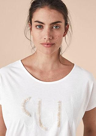 Shirt met statement borduursel