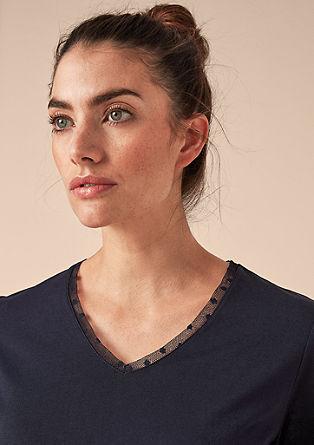 Modal shirt met een V-hals