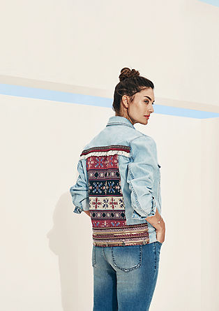 Denim jacket with an embroidered back from s.Oliver