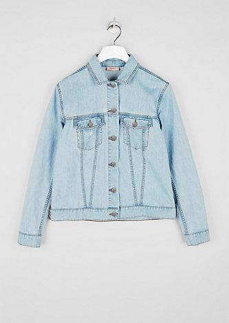 Jeansjacke mit bestickter Rückseite
