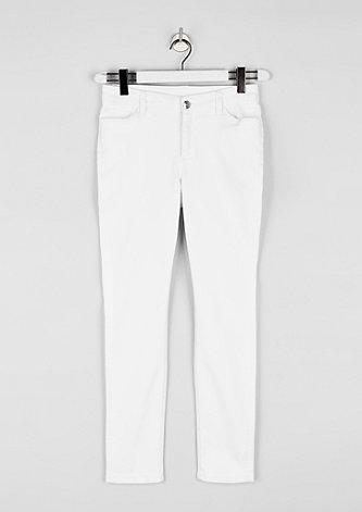Curvy Extra Slim: White Denim