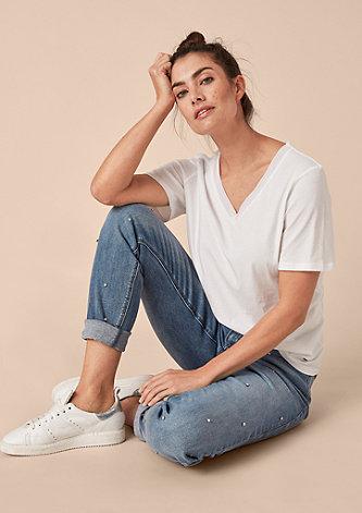 Fancy Boyfriend: Schmuckstein-Jeans