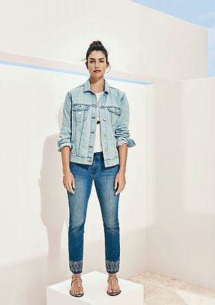 Regular Slim: Jeans mit Ethno-Note