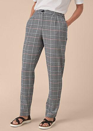 Kalhoty ke kotníkům s glenčekovým designem