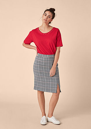Pencil skirt in a glencheck pattern from s.Oliver