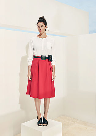 Elegant skater skirt in midi length from s.Oliver