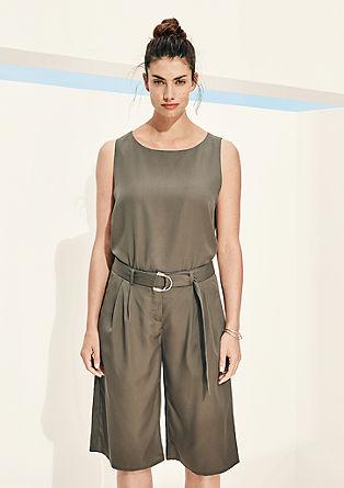 Minimalistisch-elegante lyocell blouse zonder mouwen